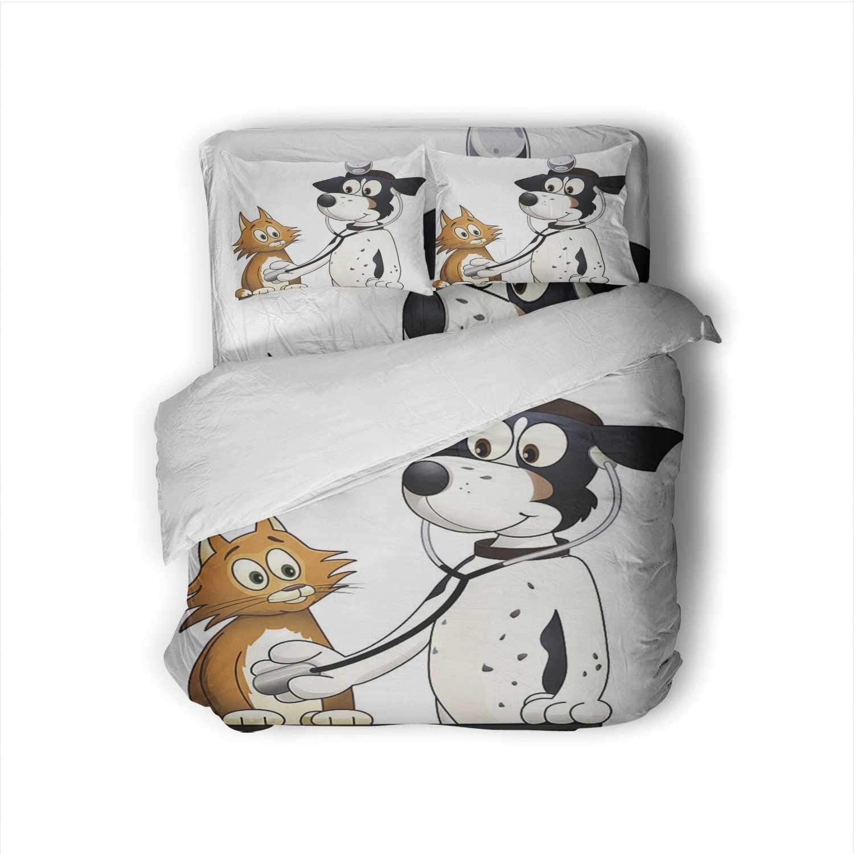 Hoveniacis Full Size Sheet Dog Vet Dog,Size Sheet Sets Animal Eye Sheets Full Size