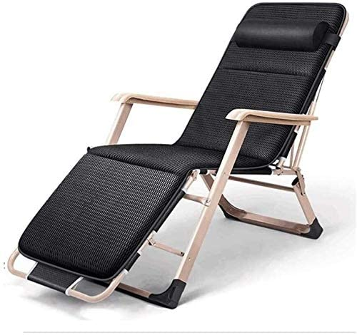 Aoyo Folding Recliner Deck Chair, Zero Gravity Armchair Indoor Dining Home Office Chair for Outdoor Dining Camping Inclined Camping Chair On The Lawn (Color : C, Size : 178x52x25cm)