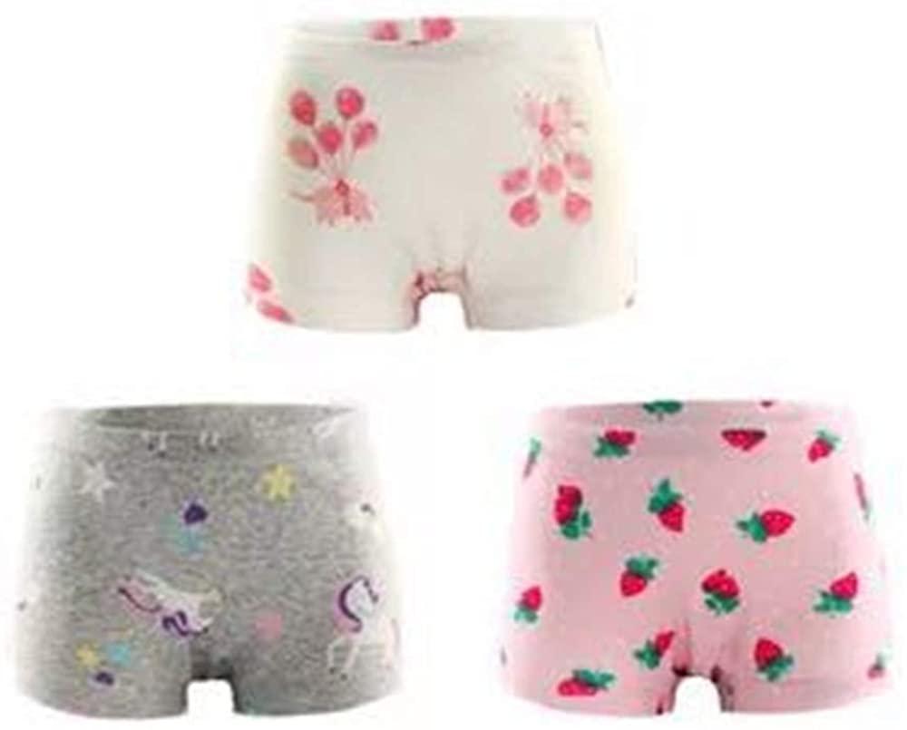 VELWINGS Girls' Boyshort Briefs 3 Pack Soft Cotton Underwear Panties