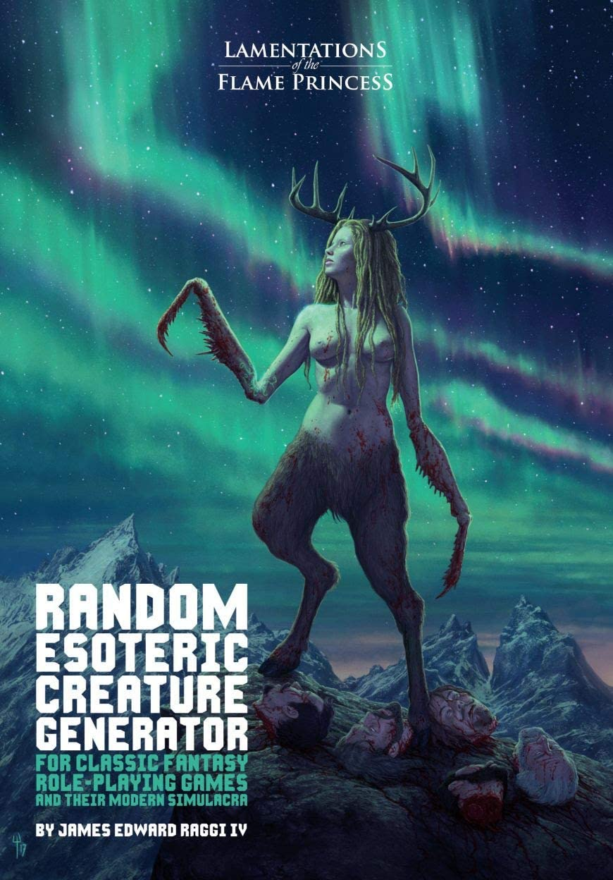 Random Esoteric Creature Generator for Classic Fantasy Rpgs and Their Modern Simulacra