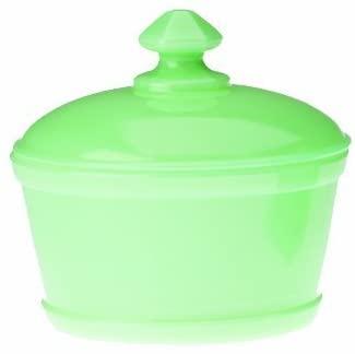 Jade Jadeite Glass Round Butter Dish with Lid