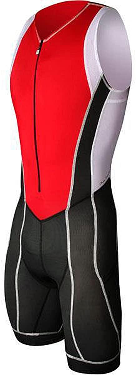 Astek Mens White Black Red Premium Triathlon Singlet Skin Tri Cycling Suit Clothing