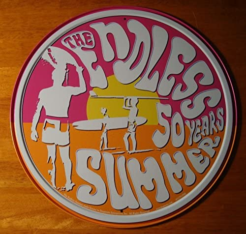 Endless Summer 50 Years Retro Surfing Anniversary Surfer Home Decor Sign