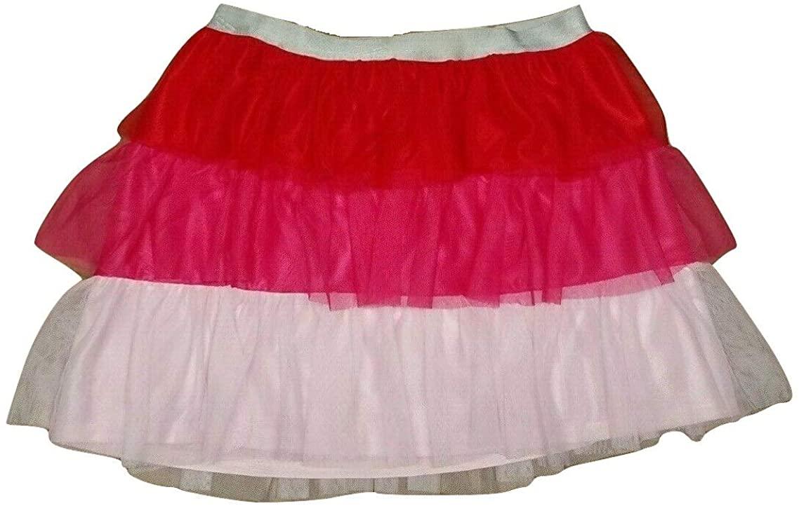 Celebrate Big Girl's Pink Mesh Three Tier Ruffle Tutu Skirt