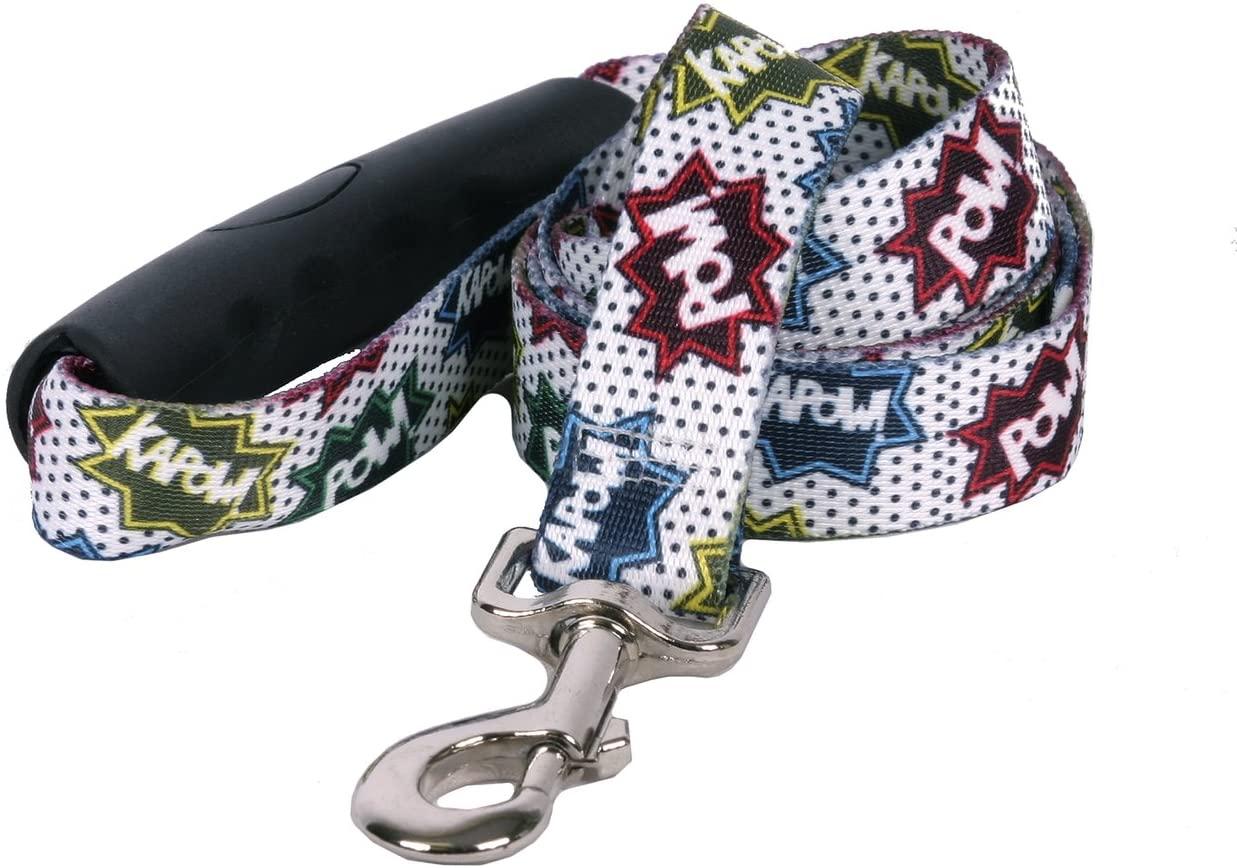 Yellow Dog Design Action Caption EZ-Grip Dog Leash with Comfort Handle