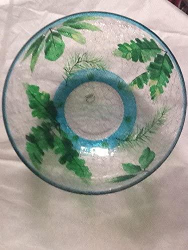 Cracked art glass bowl