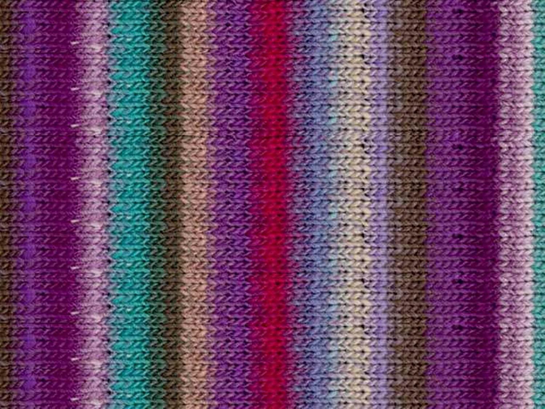 Noro Kureyon, 349 - Purple-Violet-Aqua-Nut-Magenta