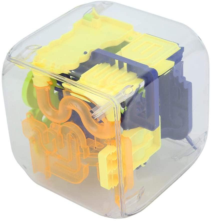 Yosoo Maze Ball, Kid 3D Educational Maze Ball Children Brain Training Educational Home Decoration 3D Square Maze Ball (Box Packaging) 3D Maze Ball (Maze Ball)