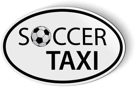 Soccer Taxi - Magnet for Car Fridge Locker - 5.5