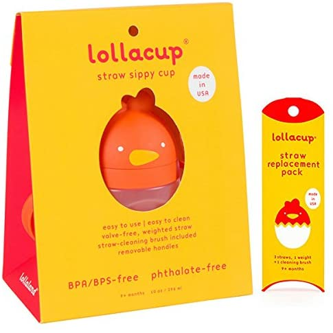 Lollaland Weighted Straw Sippy Cup | Lollacup - Sippy Cups for Toddlers | Shark Tank Products - Best Sippy Cups for Baby Infant & Toddler Ages | Lollacup w/Straw Replacement Pack