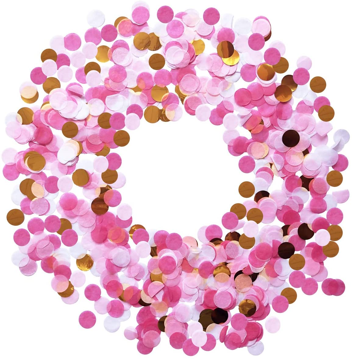 Balloon Confetti 50g Circle Table Confetti 1 INCH Tissue Paper Round Party Confetti for Baby Shower Birthday Party and Graduation Ceremony (Pink Set)