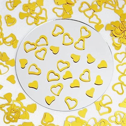 Efavormart Metallic Foil Wedding-Party Heart Confetti - 300 PCS- Gold