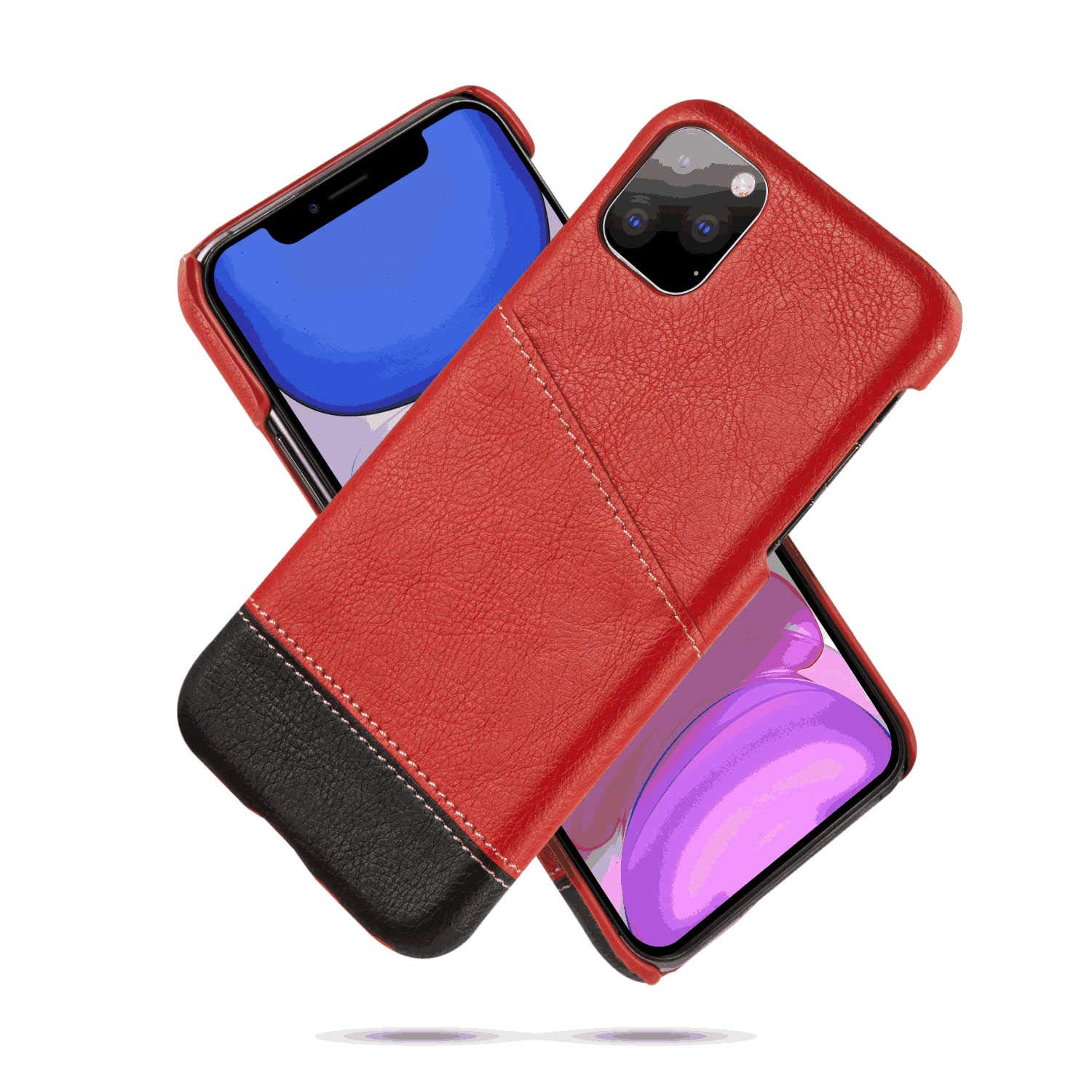 Leather Flip Case Fit for iPhone XS, red Wallet Cover for iPhone XS