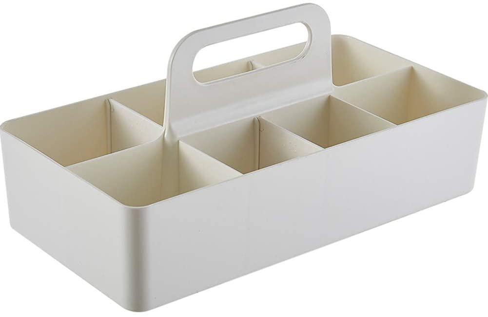 Desktop Organizer Compartmentalize Storage Basket Plastic Bathroom Kitchen Bathroom Storage Basket Bedroom Desktop Miscellaneous Storage Basket