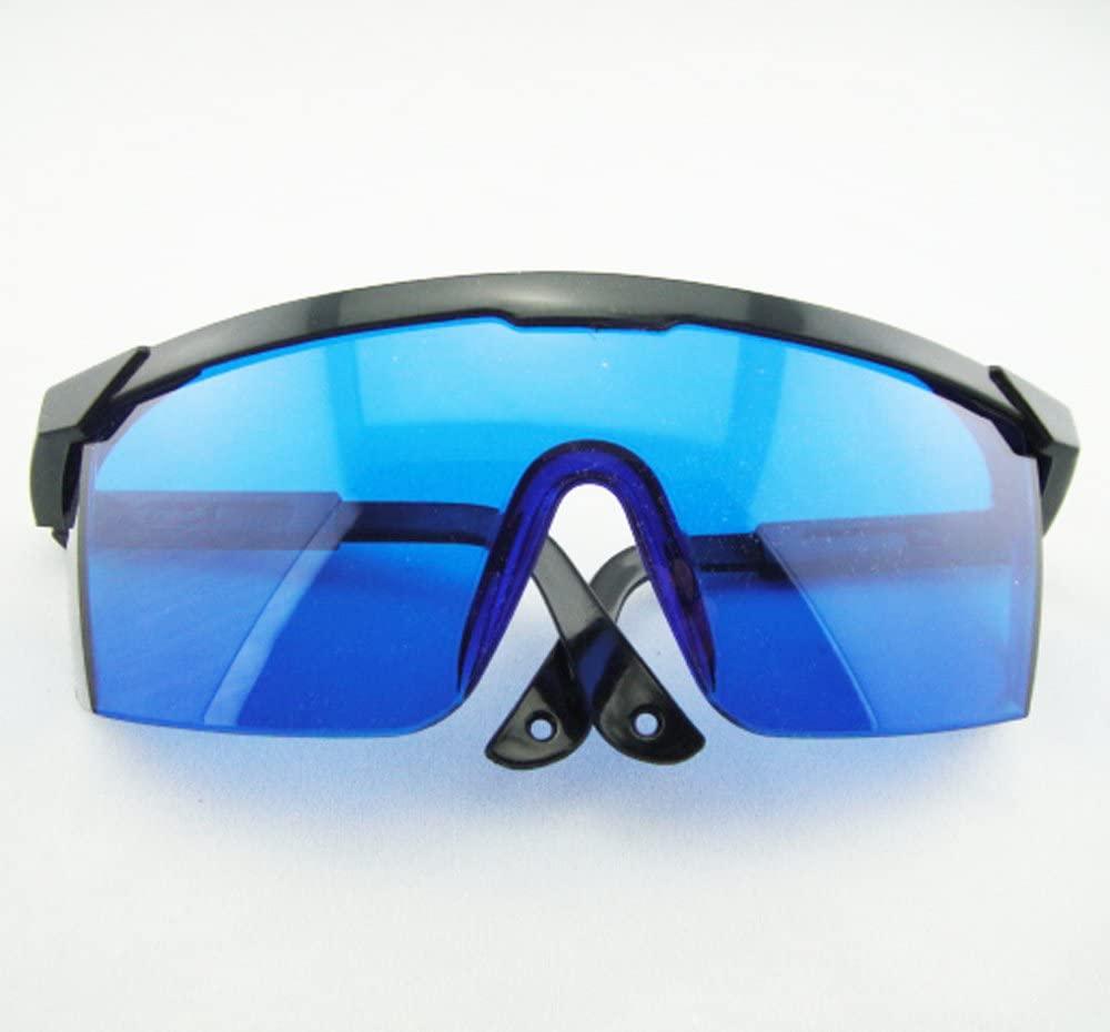 YJ02 Economical Laser Safety Goggles 590~690nm Wavelength,with Black Frame, Blue Eye Protection Laser Goggles ,He-Ne Laser, 50% V.L.T