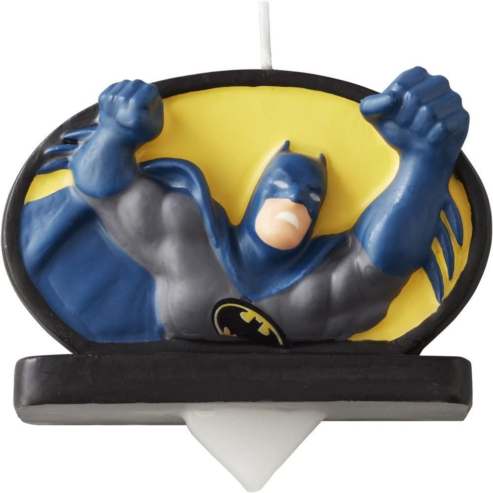 Wilton Batman Birthday Candle, Multicolor