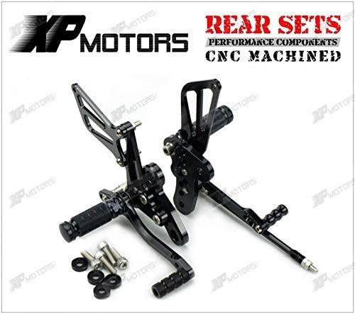 Frames & Fittings New Adjustable Rearset Footrest Rear Sets for Suzuki Hayabusa GSX1300R 1998 1999 2000 2001 2002 2003 2004 2005 2006 2007 Black
