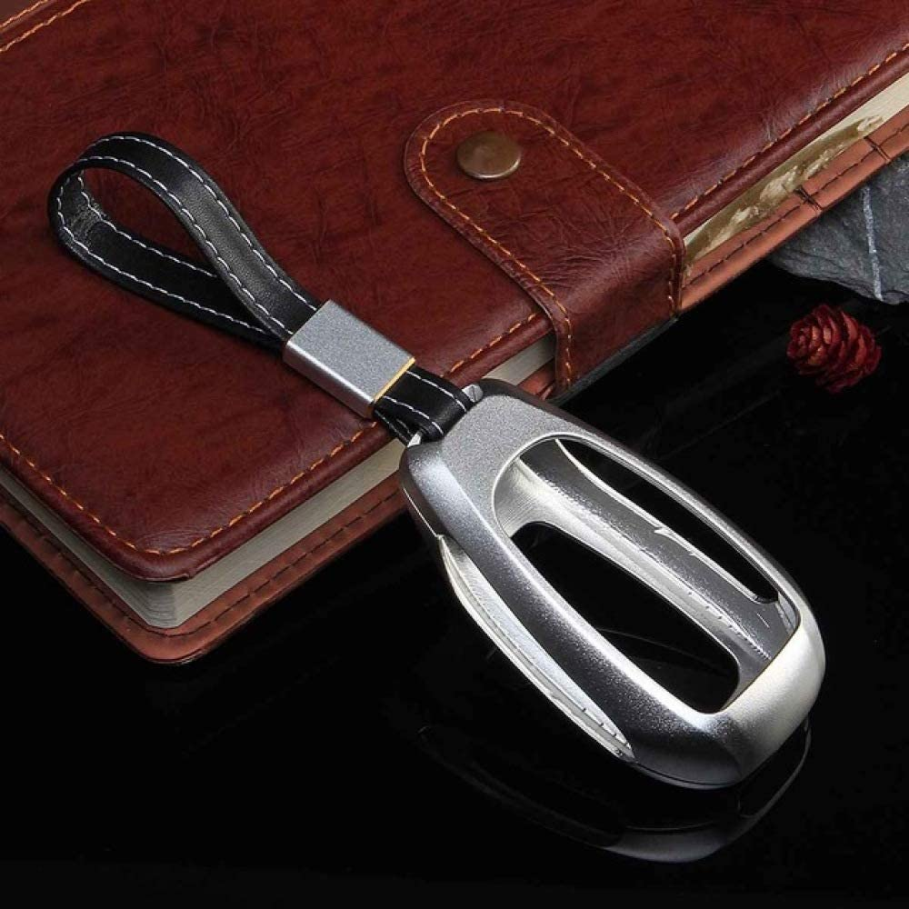 HCZSZH Car Aluminium Alloy Key Holder Cover Case Bag , for Alfa Romeo Giulia Stelvio Key Protection Holes Car Styling