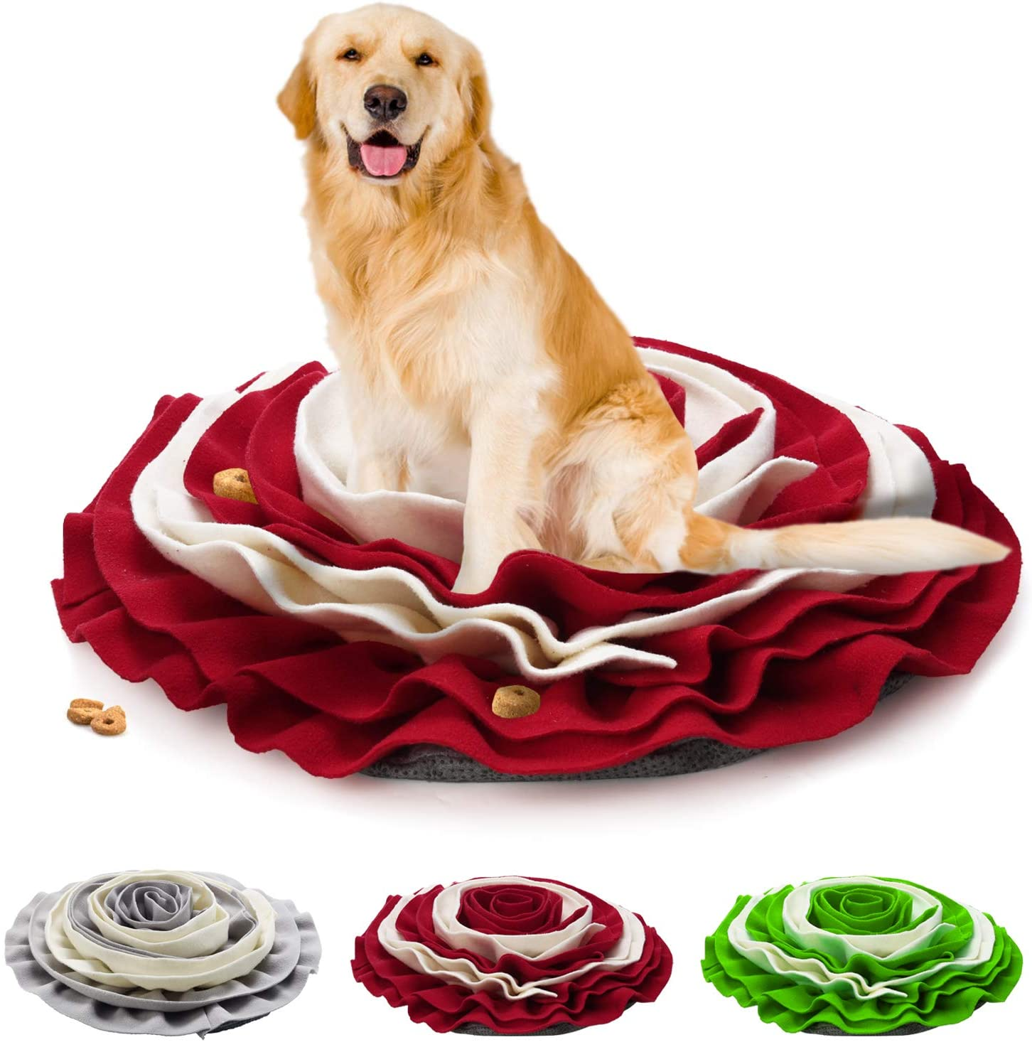 Pidsen Pet Snuffle Mat Dog Cat Slow Feeding Mat, Durable Interactive Puzzle Dog Toys, Washable Pet Feeding Nosework Treats Mat for Foraging Skills and Stress Release