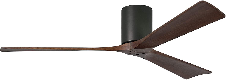 3-Blade Paddle Ceiling Mount Fan in Matte Black
