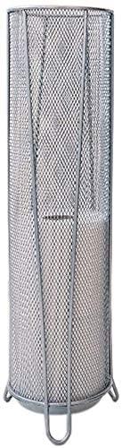 NJYT Durable Cylinder Umbrella Storage Umbrella Stand Metal Mesh Bracket with Water Tray Home Independent Umbrella Storage Rack Silver 14 x 53.3cm