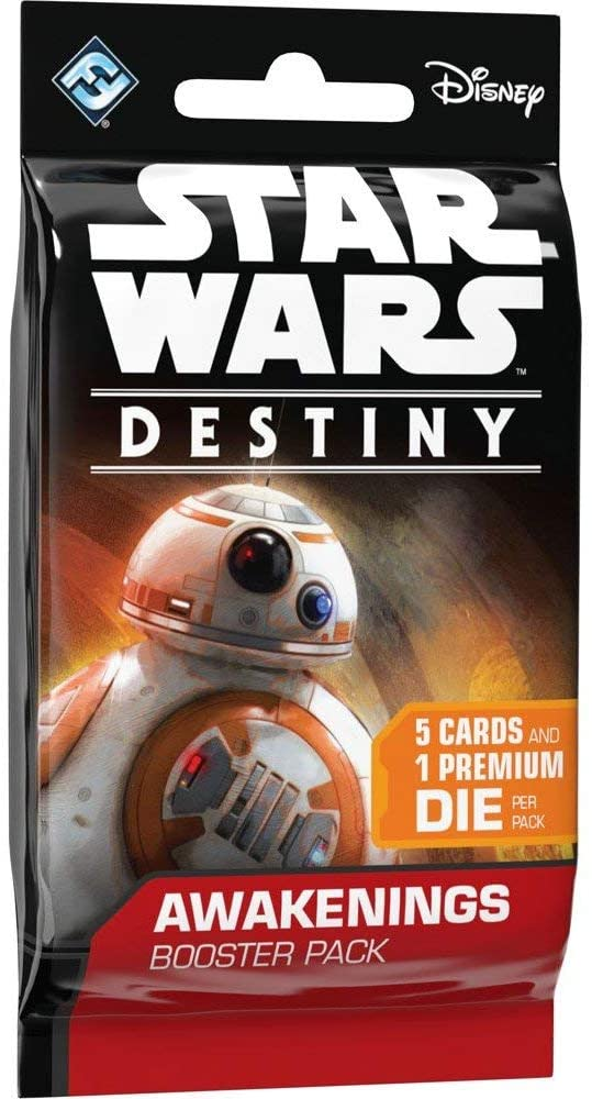 Fantasy Flight Games Star Wars Destiny: Awakenings Booster Pack, 5 Cards and 1 Premium Die, 6 Count (Pack of 1)