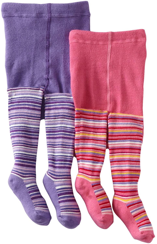 Country Kids Baby Girls' Lollipop Stripe 2 Pair Tights