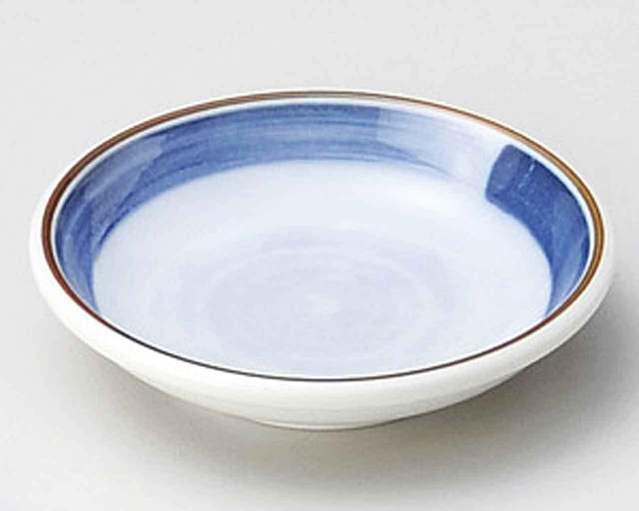 Fuchiobi 3.7inch Set of 5 Small Plates Blue porcelain Made in Japan