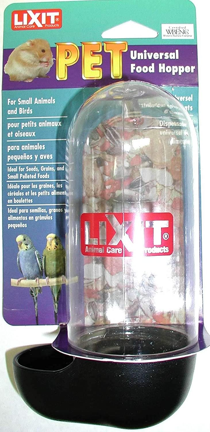 Lixit Aquarium Cage Food Hopper Bowl for Hamster Mice, and Other Small Animals.