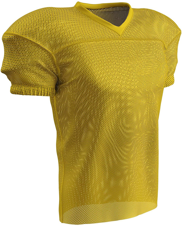 CHAMPRO Fire Football Jersey; Adult Gold