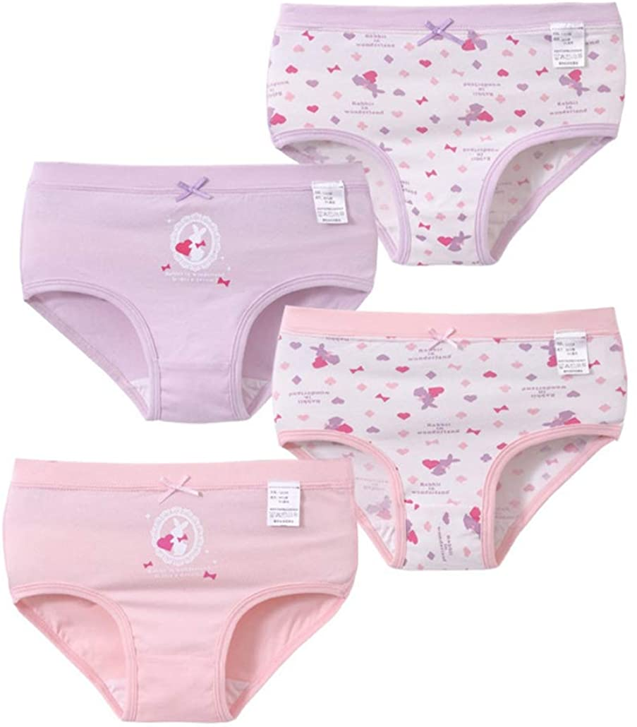 Girl's Cute Panty Bundle Underwear Panties Multipack Briefs Pack of 4