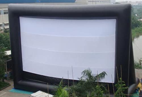 53x30 Inflatable Movie Screen No Wrinkle Commercial Business Backyard Home Cinema Strong Durable; No Blower
