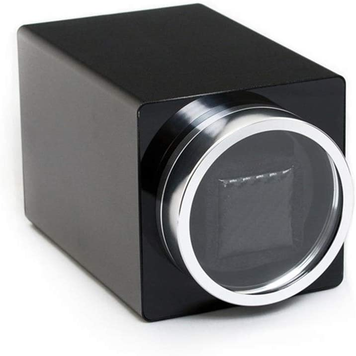[Upgrade] Mechanical Single-Head Watch Winder, Quiet Running Rotating Motor, Strong Power, Anti-Magnetization, Soft and Elastic Pillow, 105 175 105mm Quiet (Color : Black)