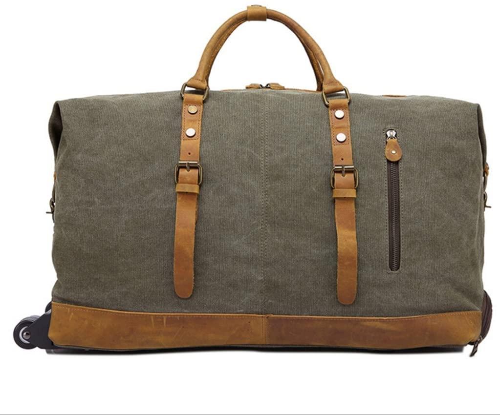 Sucastle Handle Trolley Travel Bag Casual Shoulder Messenger Bag Canvas Bag Sucastle Colour:ArmyGreen size:55x40x24cm