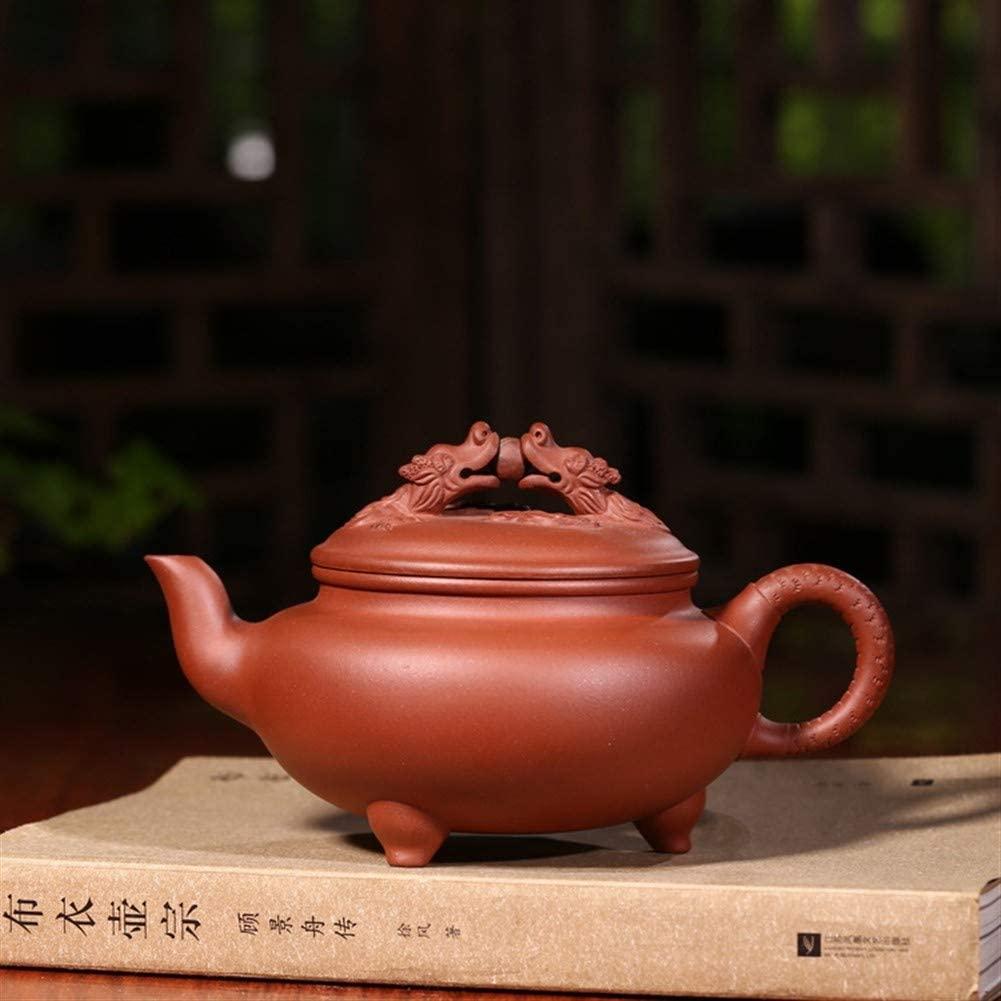 SHENLIJUAN Teapot famous hand-Dragons teapot travel tea (Color : Purple mud)