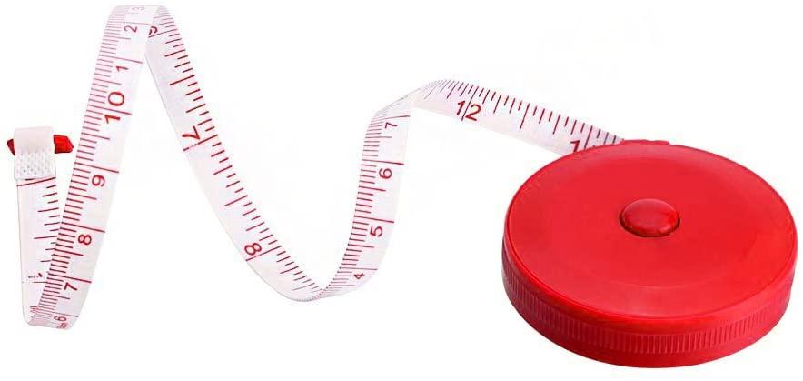VEFSU 1x Random Color Retractable Tape Measure Sewing Dieting Tapeline Ruler Tiny Tool