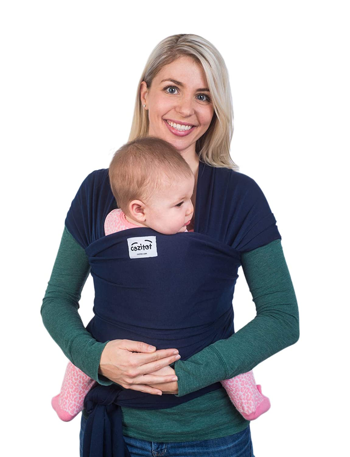 Navy Blue Babycarrier Sling Wrap by Cozitot |Stretchy, All Cloth Baby Wrap | Small to Plus Size Baby Sling | Nursing Cover Wrap | Best Baby Shower Gift