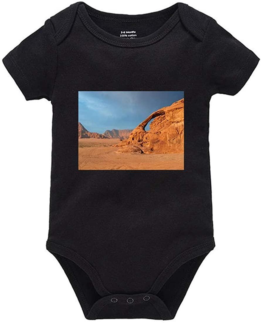 Migsrater Desert Landscape Summer Clothes Newborn Baby Unisex Cotton Bodysuit Romper Black