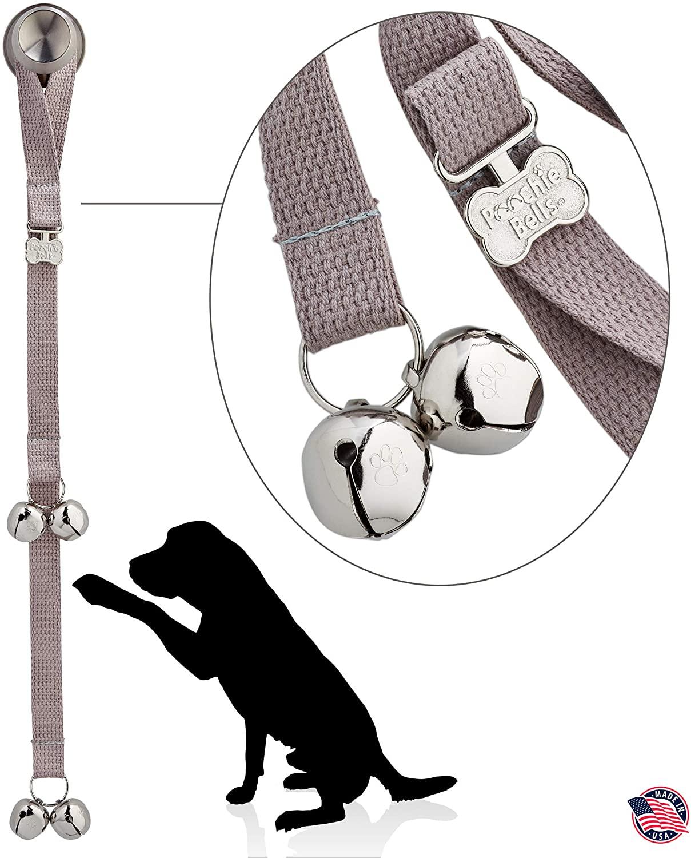 PoochieBells The Original Dog Potty Training Doorbell, Premium Cotton Webbing Collection