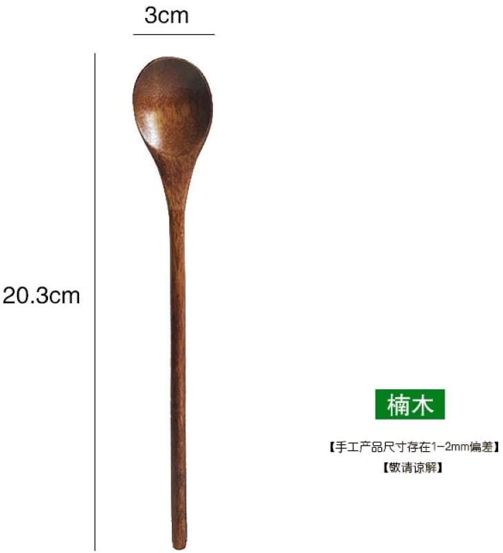 Wooden tableware, long handle mixing spoon, solid wood large spoon, wooden spoon, coffee spoon, spoon 47