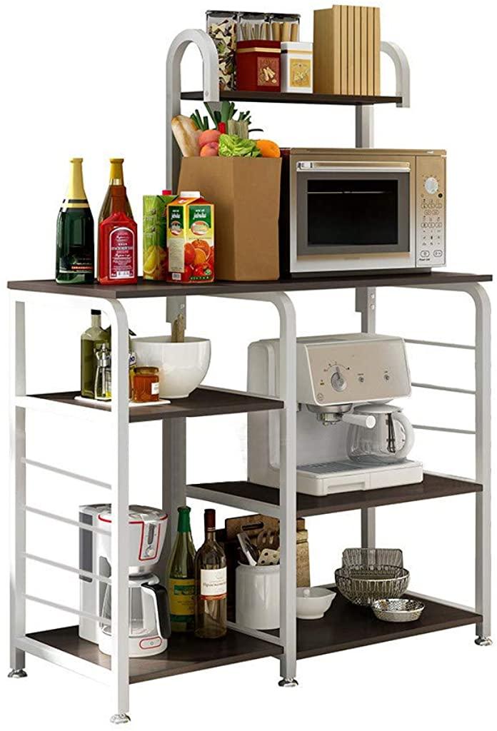 Makalon Ship from US Warehouse Kitchen Baker's Rack, Multifunctional Kitchen Rack Microwave Oven Shelf Storage