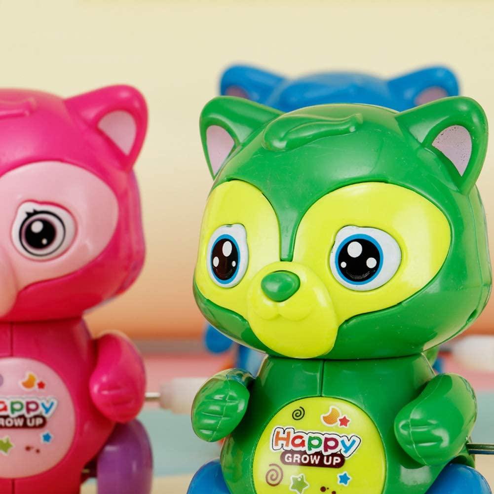 DishyKooker Baby Clockwork Toy Spring Model Mini Pull Back Jumping Frog/Dog/Lion Children Wind-up Toys Squirrel