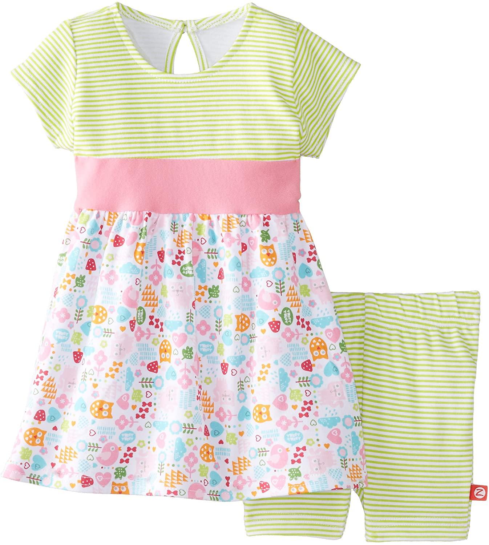 Zutano Baby Girls' Mochi Banded Waist Dress and Bike Short Set