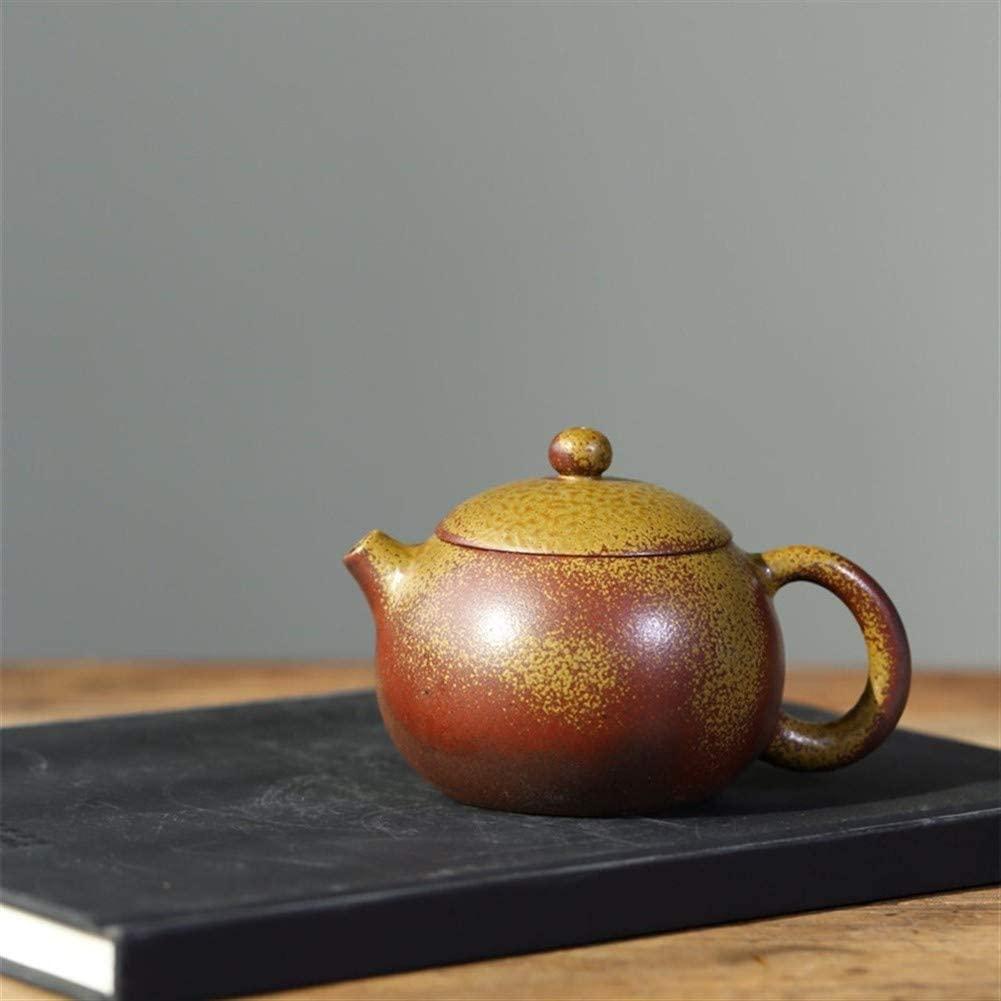 QinMei Zhou teapot ore gold ore segment clay tea pots tea firewood beauty (Color : Purple mud)