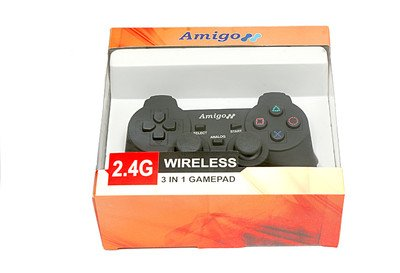 505 Buddies 2.4G Wireless Gamepad Game Controller For PC, PS1, PS2, PS3, Programmable for all Keyboard Games