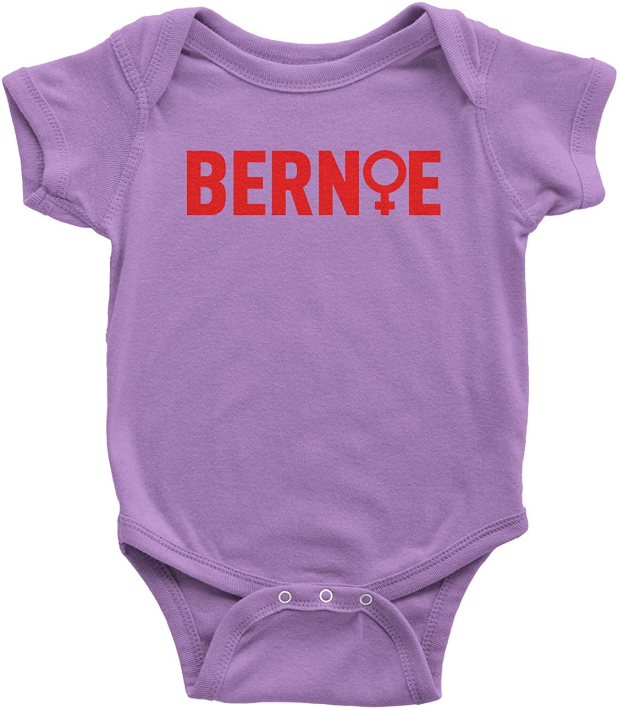 Expression Tees Bernie Sanders Feminism Infant One-Piece Romper Bodysuit