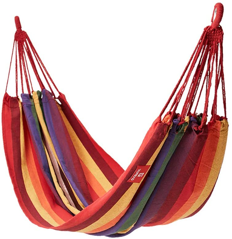 DL&VE Outdoor Travel Hammock,Portable Single Hammock,Sustainable Polyester Camping Hammock,Hammock Chair Swing Seat for Travel Beach Red 200x100cm(78.7x39.4inch)