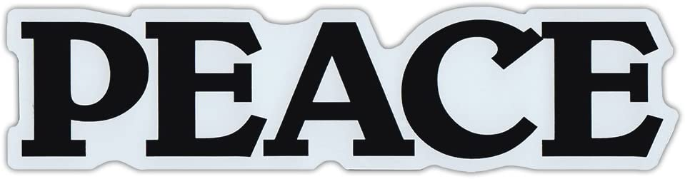 Crazy Sticker Guy Car/Refrigerator Word Magnet - Peace - Love, Coexist, Hippy