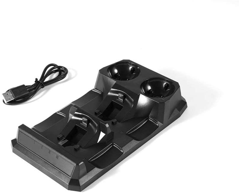 Sweepingy KJH Dual Charging Dock for Ps4 for PS4 PS Move Original Charging Base Stands Black