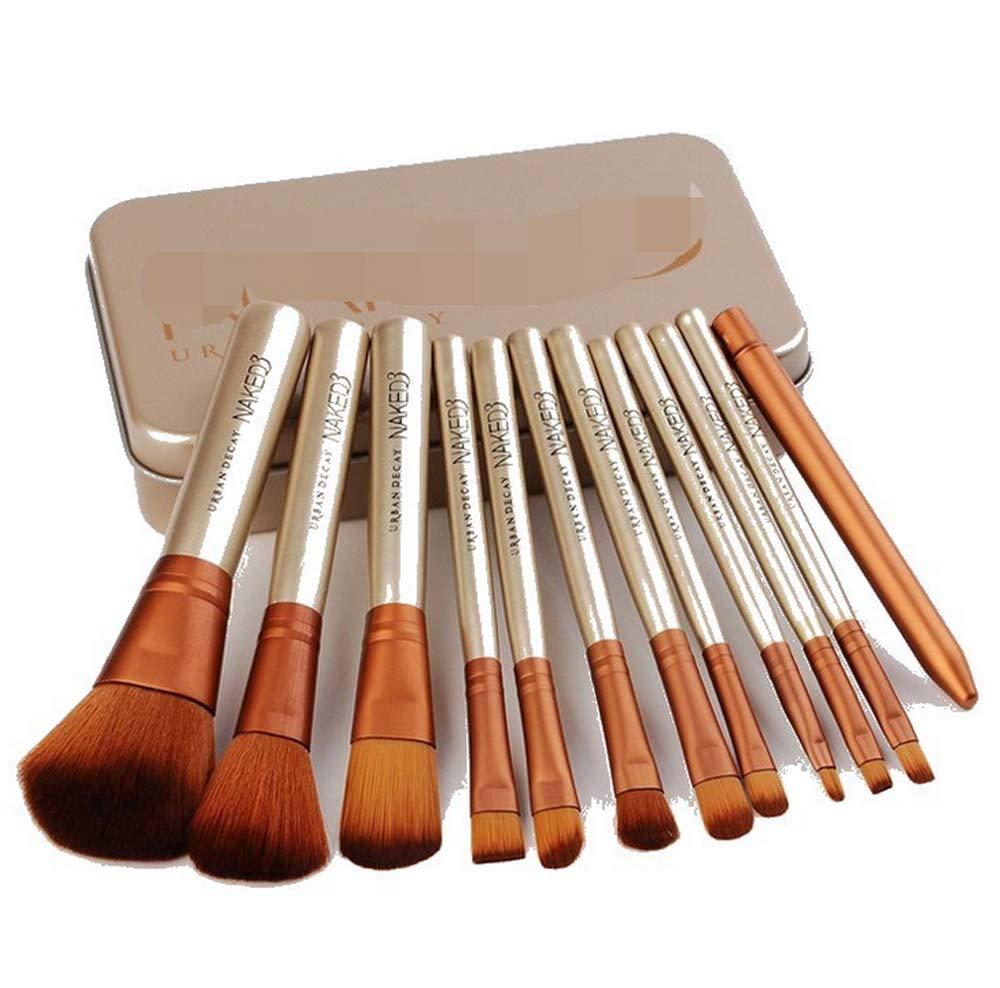 12 PCS Makeup Brush Set Wood Handle Powder Foundation Blush Concealer Eyeliner Eyeshadow Contours Brush for Girl Gift Beauty Tools